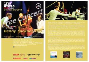 JWLS Benny Lackner Trio leaflet