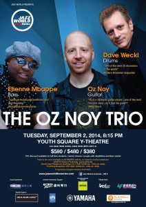 JWLS The Oz Noy Trio poster artwork